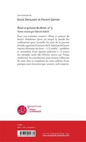 Passé et présent du droit t.3 ; les Ordalies - 4ème de couverture - Format classique