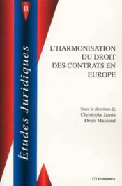 Harmonisation en droit contrats - Couverture - Format classique