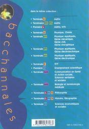 Bacchannales S ; Best Of Physique-Chimie ; 35 Sujets D'Annales Corrigés Posés Au Bac - 4ème de couverture - Format classique
