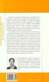 Cooperation Intercommunale Et Societe Locale - 4ème de couverture - Format classique