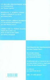 Travaux de la loge nationale de recherches ; villard de honnecourt ; de la conscience a la connaissance - 4ème de couverture - Format classique