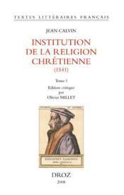 Institution de la religion chrétienne (1541) - Couverture - Format classique