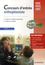 telecharger Concours d'entree orthophoniste (3e edition) livre PDF en ligne gratuit