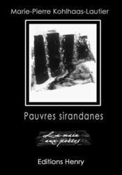 Pauvres sirandanes - Couverture - Format classique