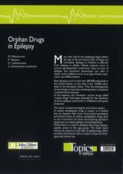 Orphan drugs in epilepsy - 4ème de couverture - Format classique