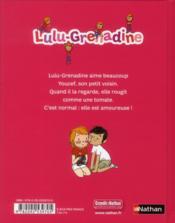 Lulu-Grenadine est amoureuse - 4ème de couverture - Format classique