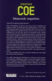 Désaccords imparfaits - 4ème de couverture - Format classique