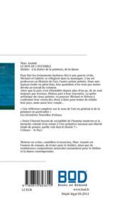 Le don de l'invisible ; théâtre ; à la lisière de la peinture, de la danse - 4ème de couverture - Format classique