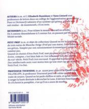 Dictionerfs du collège commun et des colères universelles - 4ème de couverture - Format classique