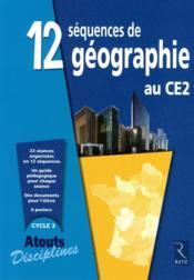 Séquences géographie au CE2 ; cycle 3 - Couverture - Format classique