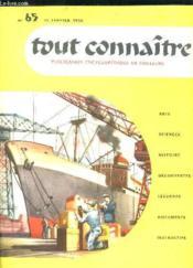 Tout Connaitre N° 65 Du 15 Janvier 1958. La Marine Marchande. - Couverture - Format classique