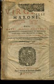 MARONIS bucolicorum eclogae X, Georgicorum libri IIII, Aeneidos libri XII - Couverture - Format classique