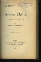 Sainte Odile - Patronne De L'Alsace - Couverture - Format classique