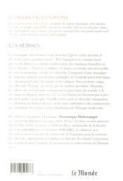 Les Suisses - 4ème de couverture - Format classique