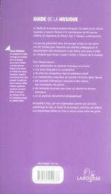 Guide de la musique ; une initiation par les oeuvres - 4ème de couverture - Format classique