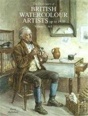 Dictionary Watercolour Artists Vol1 A/L /Anglais - Couverture - Format classique