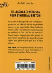 Le breton en 5 minutes par jour - 4ème de couverture - Format classique