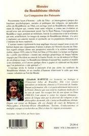 Histoire du bouddhisme tibétain ; la compassion des puissants - 4ème de couverture - Format classique