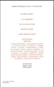 Jack London, romans, récits et nouvelles t.2 - 4ème de couverture - Format classique