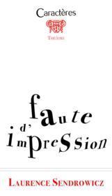 Faute d'impression - Couverture - Format classique