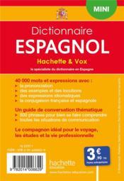 Dictionnaire Hachette & Vox mini ; français-espagnol / espagnol-français - 4ème de couverture - Format classique
