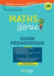 Les mathématiques avec Léonie ; CE1 ; méthode de Singapour ; guide pédagogique (édition 2020) - Couverture - Format classique