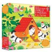 À la ferme : mon petit coffret livre et 3 puzzles - Couverture - Format classique