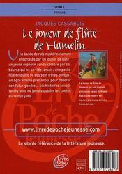 Le joueur de flûte de Hamelin - 4ème de couverture - Format classique