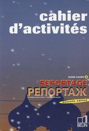 telecharger Reportage russe cahier d'activites 2 livre PDF en ligne gratuit