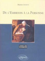 De L'Embryon A La Personne No41 - Intérieur - Format classique