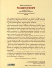 Passages d'encre ; échanges littéraires dans la bibliothèque Jean Bonna - Couverture - Format classique