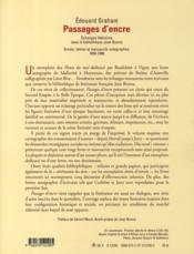 Passages d'encre ; échanges littéraires dans la bibliothèque Jean Bonna - 4ème de couverture - Format classique