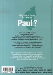 L'encyclopédie des prenoms t.20 ; paul - 4ème de couverture - Format classique