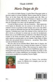 Marie doigts de fée - 4ème de couverture - Format classique