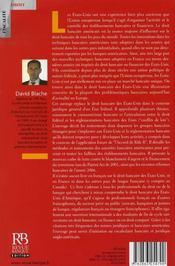 Le droit bancaire des états-unis ; le modèle pour l'europe bancaire ? - 4ème de couverture - Format classique
