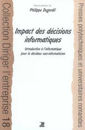 Impact des decisions informatiques. - Intérieur - Format classique