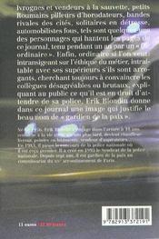 Journal d'un gardien de la paix - 4ème de couverture - Format classique