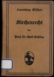 KIRCHENRECHT, coll. Göschen - Couverture - Format classique