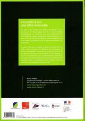 Les ports à sec, une offre innovante ; guide technique 2010 - 4ème de couverture - Format classique