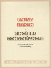 Sincères condoléances - Couverture - Format classique