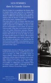 Les femmes dans la Grande Guerre - 4ème de couverture - Format classique