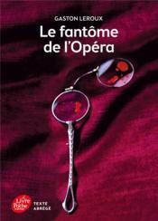 Le fantôme de l'Opéra - Couverture - Format classique