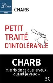 Petit traité d'intolérance - Couverture - Format classique