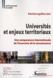 Universités et enjeux territoriaux ; une comparaison internationale de l'économie de la connaissance - Couverture - Format classique