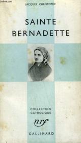 Sainte Bernadette. Collection Catholique. - Couverture - Format classique