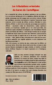 Les tribulations orientales du baron de Castelfigeac - 4ème de couverture - Format classique