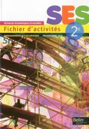 Fichier d'activités ; SES ; 2nde (édition 2013) - Couverture - Format classique