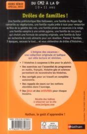 L'ENIGME DES VACANCES PRIMAIRE T.37 ; drôles de familles ; du CM2 vers la 6e - 4ème de couverture - Format classique