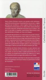 Amiens ; la cathédrale Notre-Dame - 4ème de couverture - Format classique