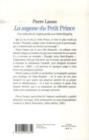 La sagesse du Petit Prince ; à la recherche de l'enfant perdu avec Saint-Exupéry - 4ème de couverture - Format classique